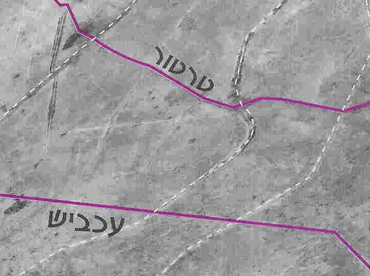 """خرائط ميدانية إسرائيلية وتقارير ومواضيع  إسرائيلية تمهيدا لموضوع """"ألثغرة"""" 50002547"""